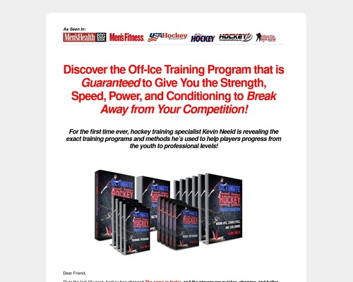 Ultimate Hockey Transformation | Year-round off-ice training programs to help you transform your game, development, and career!