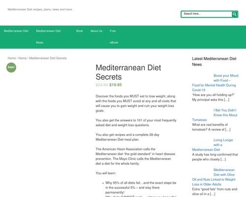Mediterranean Diet Secrets New 2016 Update!