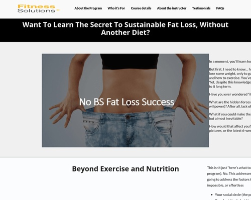 No-BS – Personal Trainer Toronto | Fitness Solutions Plus | 647-271-8672