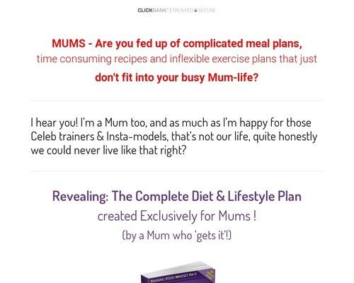 TFMF Complete Diet & Lifestyle Guide For Mums Ebook Clickbank - THE FIT MUM FORMULA